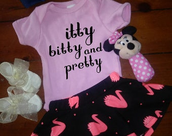 Toddler girl-Itty Bitty and Pretty Onesie