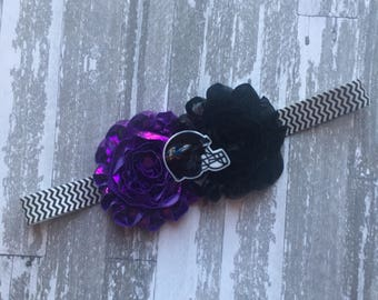 Baltimore Ravens Hair Bow - Baltimore Ravens Headband - Ravens Hair Bow - Ravens Bow - Baltimore Headband - Baltimore Hair Bow