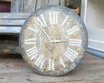 french hand made wall clock