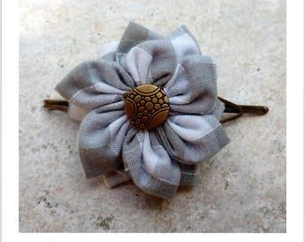 Barrette à cheveux Fleur en tissu - 1