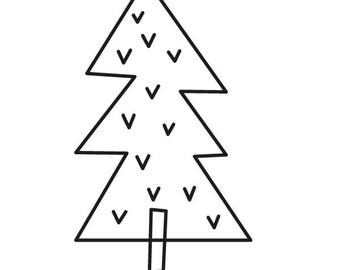 Stamp Christmas Tree