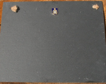 Kings Own Scottish Borderers Shield Slate Chalk Board Messages, Lists , Tally Chart, Reminders Military Gift ME28