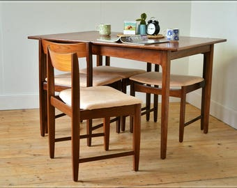 chairs dining chair set of 4 Remploy Furniture danish design mid century teak