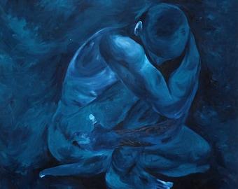 Blue uniting An original painting