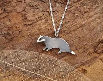 Sterling silver badger