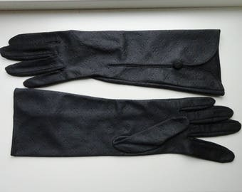 Black 60s Gloves // Size 6,5/7