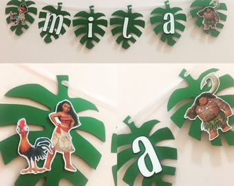 Moana banner, Moana birthday party, moana decor, moana party decorations