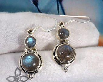 Labradorite Ring, Labradorite Gemstone, Labradorite Jewellery, 925 Sterling Silver, Handmade Earring, Unique Earring, Dangle Earring,
