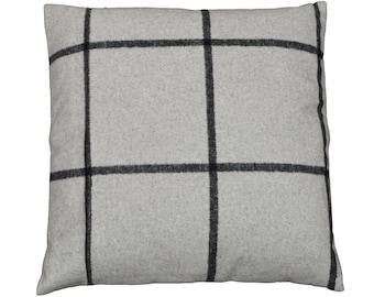 "Square cushion 40x40cm removable fabric ""Shetland grey"""