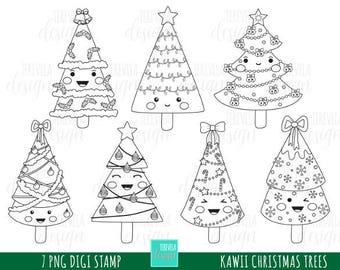 80 SALE CHRISTMAS Stamp Commercial Use Kawaii Digi Christmas