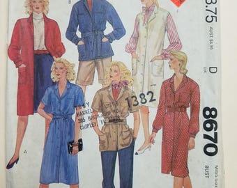 McCall's Pattern Size 22  #8670