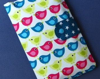Diaper Clutch / Diaper Bag / Diaper Wipes Bag / birds
