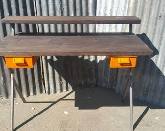 Industrial steel and reclaimed wood desk. The No.2 StuDy