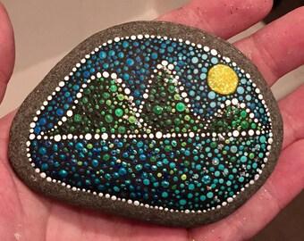 Landscape Handpainted Stone - Dotism