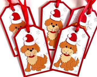 Dog Christmas Tags, Christmas Gift Tags, Holiday Tags, Holiday Gift Tags, Christmas Gift, Christmas Labels, Merry Christmas Tags, Gift Wrap