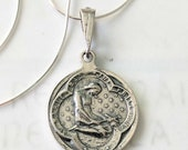 Necklace - Saint Mary Magdalene Sterling Silver Medal - 20mm + 18 inch Sterling Silver Italian Chain
