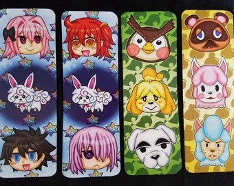Bookmarks (Fate/GO & Animal Crossing)