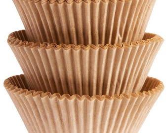 75 Ct Natural Kraft Paper Baking Cups - Cupcake Liners - Standard 2 Inch Regular Cupcake Size - Natural Rustic Look Great For Thanksgving!