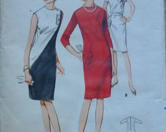 Vintage sewing Pattern. Butterick 3923. Dress pattern 1960s. Bust 35""
