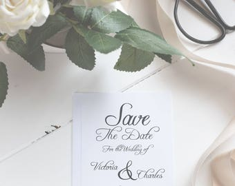 Save the Date Card for Wedding Announcement