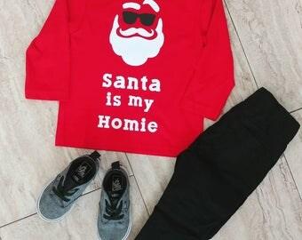 Santa's homie shirt