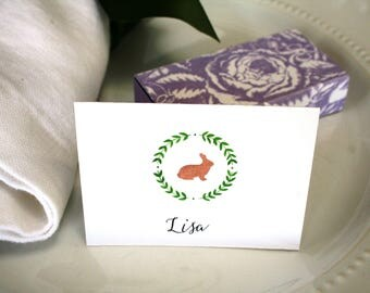 Easter place cards etsy easter place cards watercolor place cards easter seating cards party place cards negle Image collections