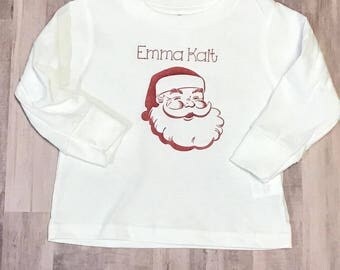 Santa Personalized Infant One-Piece Body Suit  or T-Shirt