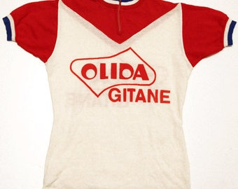 70's vintage Gitane cycle jersey made in France
