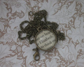 Elizabeth ~ Mr Darcy Pendant ~ Pride and Prejudice ~ Jane Austen ~
