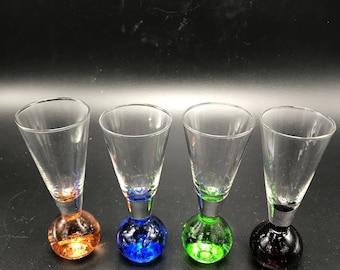 4 glass shot glasses