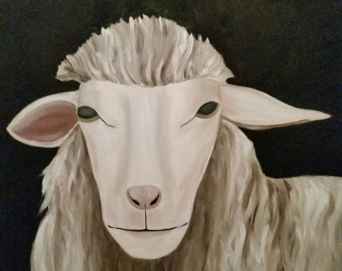 White Sheep #3- WORK IN PROGRESS - Oil Painting -Large Painting