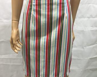 SKIRT // stripe // candy // nautical // ladieswear // corporate // fun // pencil skirt // white // pink // blue // yellow