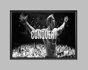 Arnold Schwarzenegger Gym Poster Picture Print A4 - A3 - A2 - A1 - A0
