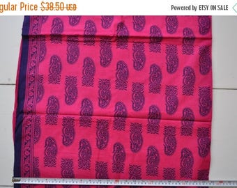 ON SALE Free dupatta Screen print Indian suit hot pink dress