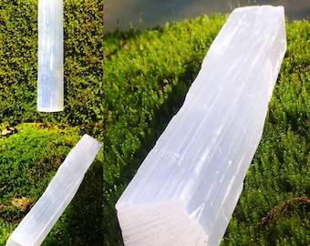 Luminous Natural Raw Selenite Meditation Wands