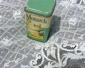 Vintage Monarch Tea Canister