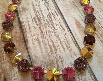 Golden Sparkle 12mm Swarovski Necklace