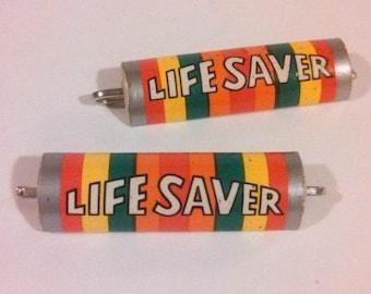 Vintage Life Saver Hair Pins / 70s 80s Pop Colors / Vintage Hair Clips / Life Saver Candy / CarnivalofFASHION