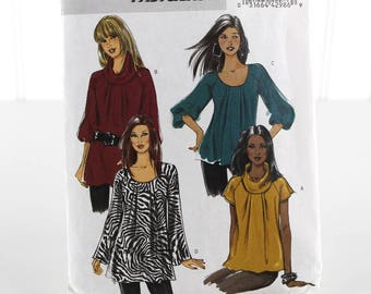 Easy Pullover Top Sewing Pattern, Uncut Sewing Pattern, Vogue B5388, Size 8-14