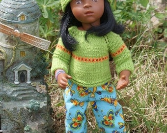 Reserved. Hand Knit Clothes Outfit for 13 inch dolls such as Minouches