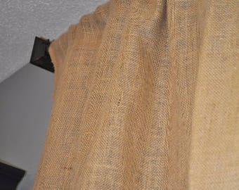 "Pair of ""The Standard"" Burlap Curtain Panels 84"" Long"