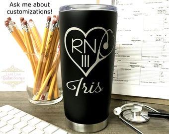 Nurse Mug Personalized RN Gift for Registered Nurse Coffee Thermos OB Nurse Labor and Delivery Nursing School Graduation