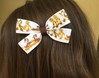 Chip and Dale Hair  Bow