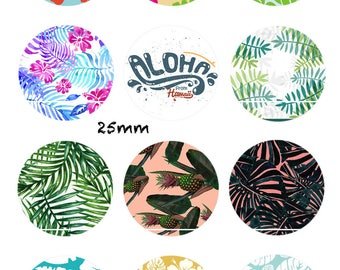 Aloha from Hawaii 12 Images/designs/collage/Scrapbooking digital 30/25/20/18/16/15/14/12/10/8 mm cabochon round/square/oval