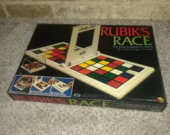 Vintage Rubiks Race board game from the makers of Rubiks Cube