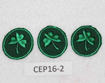 Embroidered Iron On Patch - Clovers (3) - St. Patrick's Day - CEP16-2  FREE SHIPPING in US