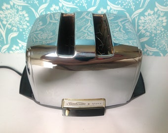 Sunbeam toaster, radiant toaster, 1960s toaster, retro toaster, auto drop, Sunbeam Vista, Chrome toaster, metal toaster, retro toaster
