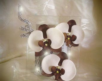 Frame with orchids to customize gift
