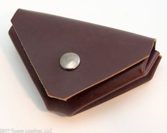 Hermes Le 24 Style Coin Wallet in Burgundy - Horween Leather