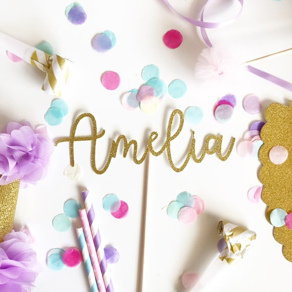 Word, Name or Age Glitter Cake Topper   Happy Birthday Topper   Cake Topper   Custom Cake Topper